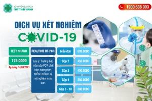 Dịch vụ xét nghiệm COVID-19 chỉ với 175.000đ tại bệnh viện Chữ Thập Xanh